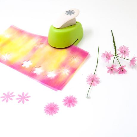 グラシン紙|花彩 6柄アソート|折り紙サイズ|お花紙 ローズウィンドウ ペーパーフラワー 切り絵 薔薇 透けるデザインペーパー