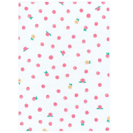 グラシン紙 フルーツ 4柄アソート A4 いちご ピーチ さくらんぼ レモン ミックス 透けるデザインペーパー ラッピング コラージュ素材