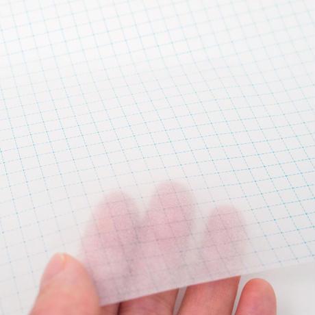 グラシン紙|方眼紙柄|A4|透ける5mm方眼 ブルー 文庫本ブックカバー デザインペーパー 薄葉紙 ラッピング