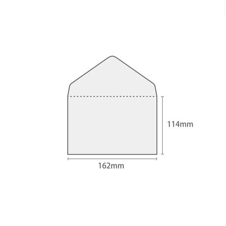 グラシン封筒【10枚入 中ヨコ型】162×114mm 白無地 ダイヤ貼り 洋形2号 ポストカード ハガキサイズ ウェディング 透ける