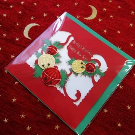 pc35    ★立体的なデザインがかわいい!ベトナムペーパークイリングカード(クリスマス)