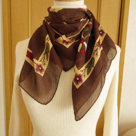 turc9   繊維の宝庫トルコのふわっと軽いコットンスカーフ(マルーン)M