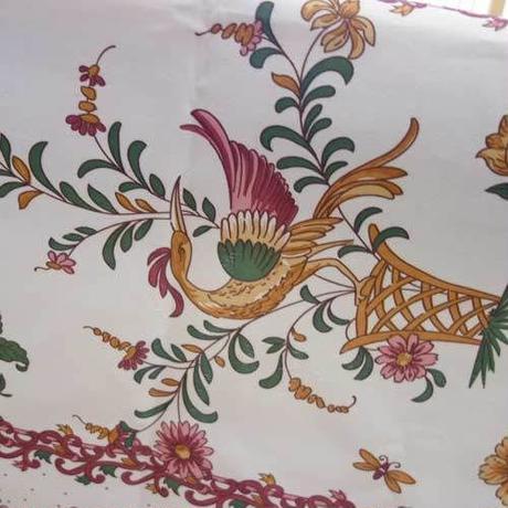 pv056-240           プロヴァンス テーブルクロス 長方形150×240(鳥とフラワー)