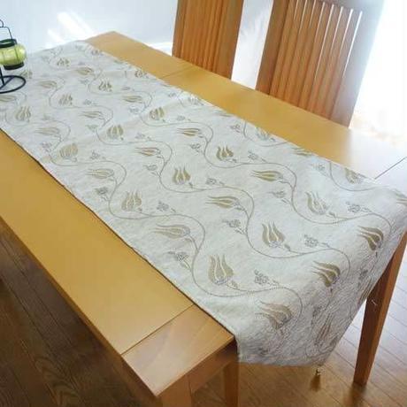★tta-81トルコデザインテーブルランナー(ラーレアイボリー)約180cm×43cm