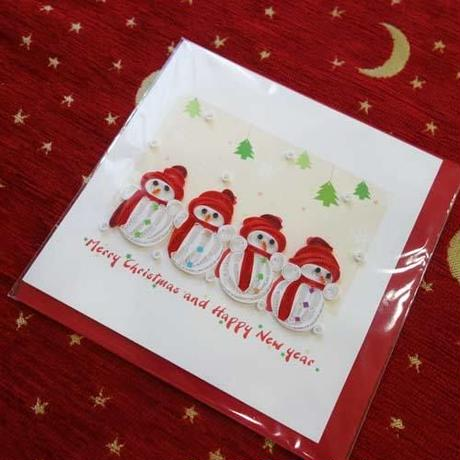 pc32    ★立体的なデザインがかわいい!ベトナムペーパークイリングカード(クリスマス)