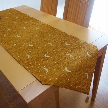 ★tta-69 トルコデザインテーブルランナー(月と星キャメル)約160cm×43cm