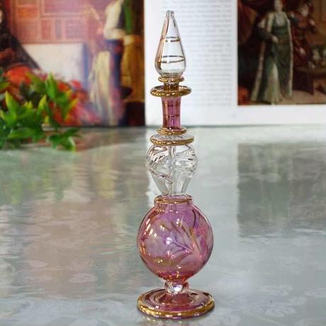 pl9-1★ガラスのエジプト香水瓶 ミディアムサイズ