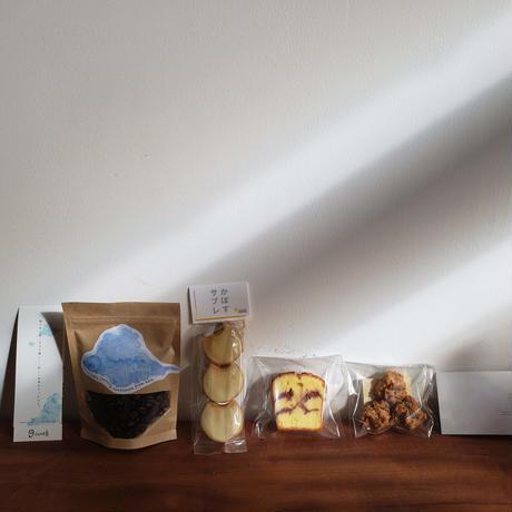 【かどぱん×cue】手づくりおやつと自家焙煎珈琲豆のBOX