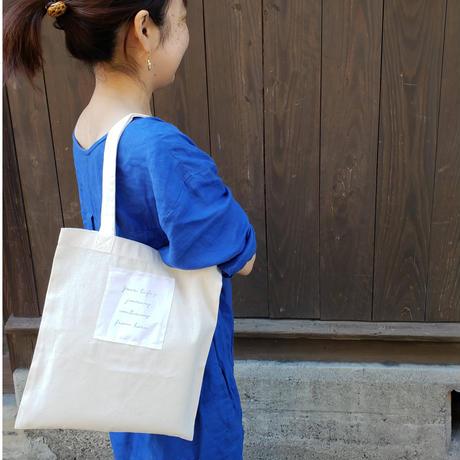 【環境に、人に優しく】cue original オーガニックコットンのECO BAG(S)