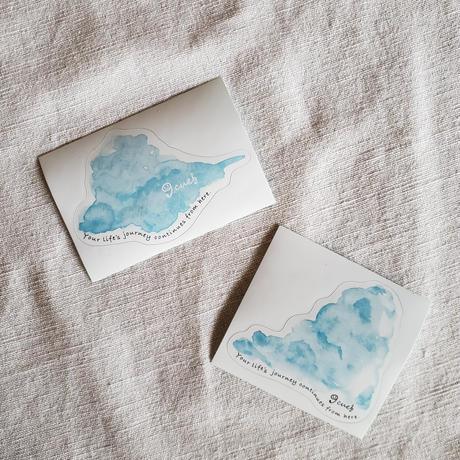 【旅のおともにペタッ】cue original sticker 2枚セット