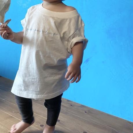 【環境に、人に優しく】orgabits オリジナル刺繍Tシャツ for kids