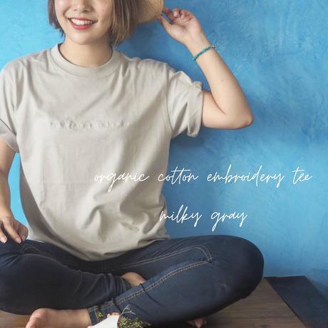 【環境に、人に優しく】orgabits オリジナル刺繍Tシャツ
