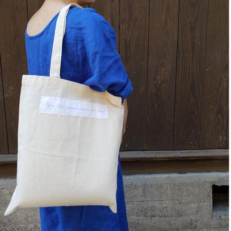 【環境に、人に優しく】cue original オーガニックコットンのECO BAG(M)