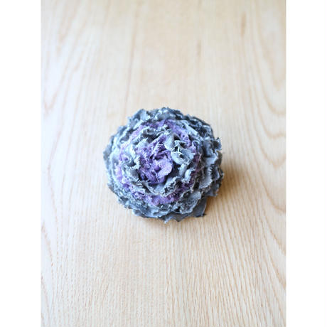 麻の布花コサージュL