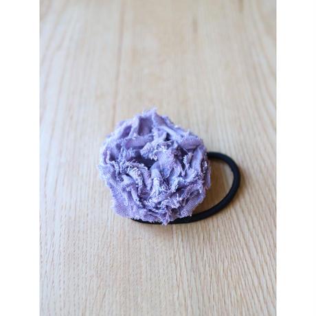 麻の布花ヘアゴム