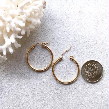14KGF Hoop Earrings 27mm