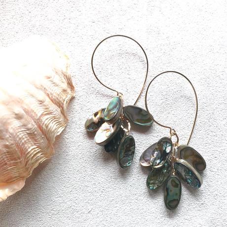 14KGF Abalone Shell Hoop Eariings