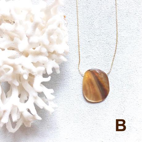 """【受注後製作】14KGF Carameliser Shiny Color Shell Necklace """"B"""""""