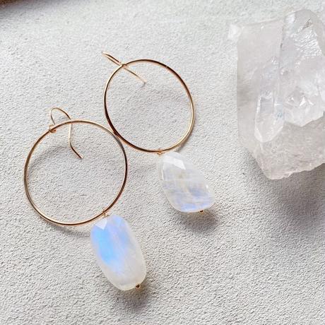 14KGF Blue Moon Stone  Earrings