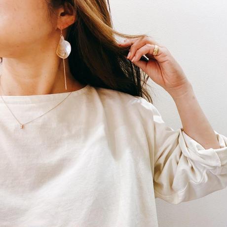 14KGF Vintage Shell & Pikake MOP Threader Earrings