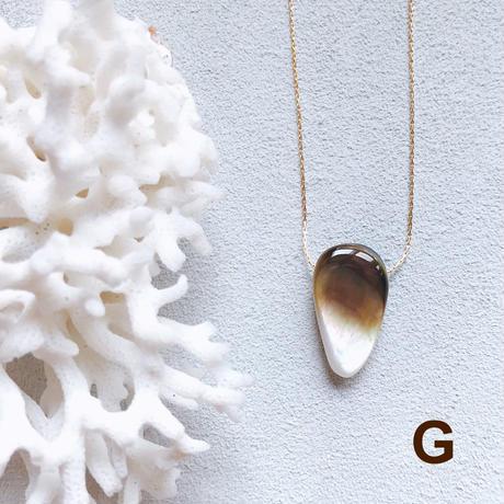"""【受注後製作】14KGF Carameliser Shiny Color Shell Necklace """"G"""""""