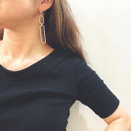 SVF  Oval Rings Connected Earrings