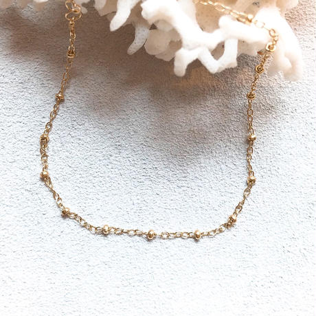 14KGF Ball Chain Anklet