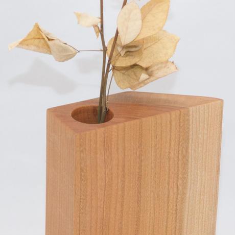 FV_016 木のフラワーベース(ヤマザクラ材)