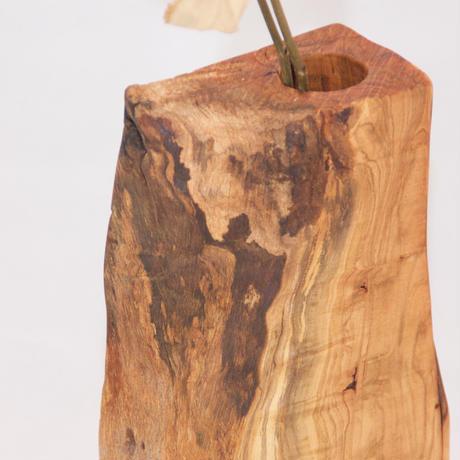 FV_015 木のフラワーベース(ヤマザクラ材)