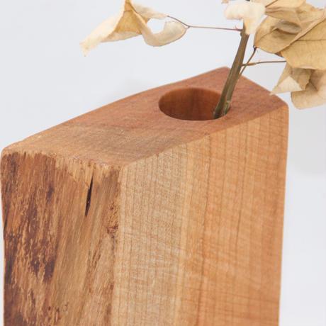 FV_017 木のフラワーベース(ヤマザクラ材)