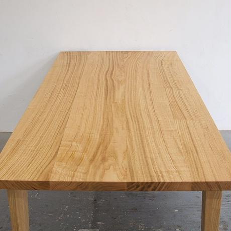 D135クリ材4枚はぎテーブル (ストレートカット)