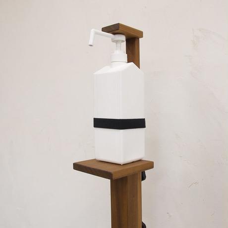 無垢材足踏み式消毒用ディスペンサー(MI)
