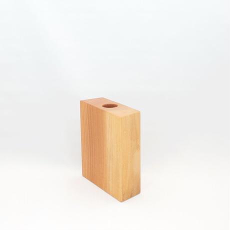 FV_006 木のフラワーベース(欅材)