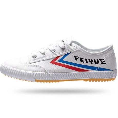FEIYUE フェイユエ ローカットスニーカー 今欧米で大人気 流行色のおしゃれ紐靴 軽量で通気性抜群子供靴 運動靴 通学靴 男女どちらもOK