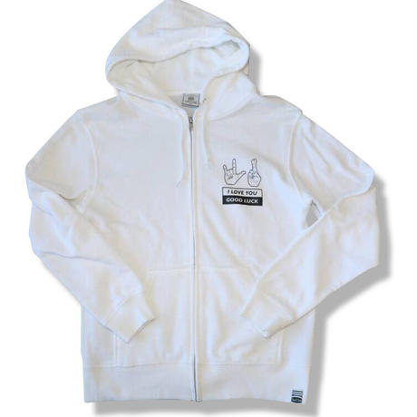 HAND SIGN FULL ZIP PARKA