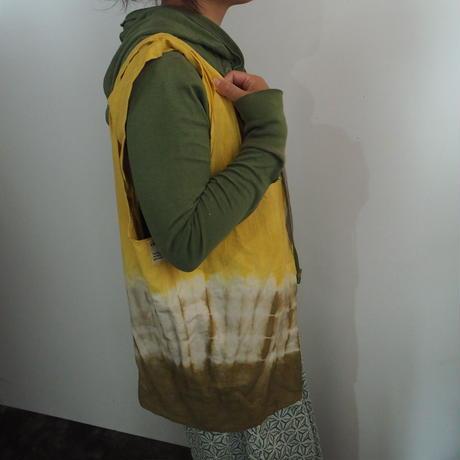 A HOPE HEMP  Big Tote Bag(赤麻×枇杷)