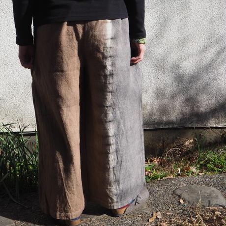 Hemp100% Pants (柿渋×赤麻)