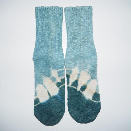 Hemp Cotton Socks(水色×青緑)