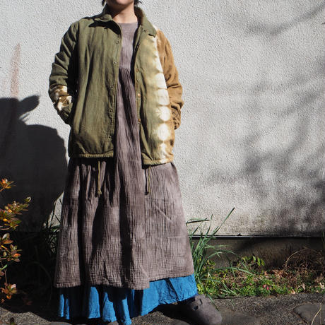 A HOPE HEMP  Hemp Flannel Coach Jaket(山栗×柘榴)