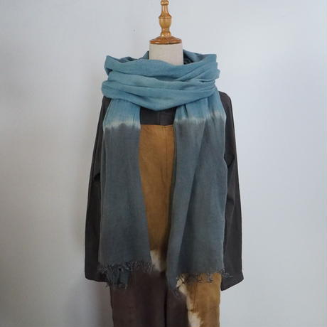 Hemp Wool Big Stole(すくも藍×矢車)