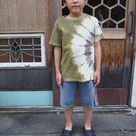 enishi  Hemp Organic Cotton Kids Tee(M)(山桃×赤麻)