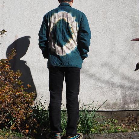 A HOPE HEMP  Hemp Flannel Coach Jaket(黒文字×山栗×インド藍)