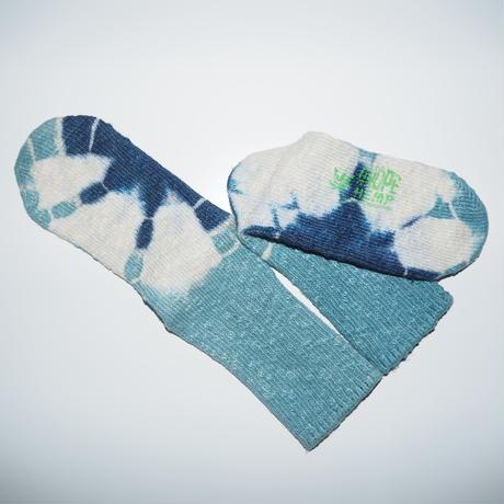 Hemp Cotton Socks(水色×紺色)