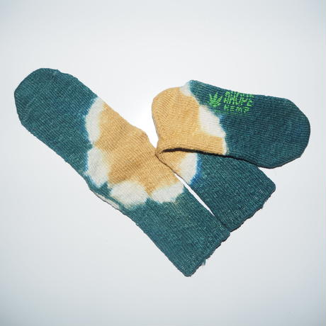 Hemp Cotton Socks(青緑×黄色)