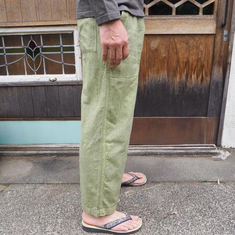 A HOPE HEMP Hemp Organic Cotton  Cropped Baker Easy Pants(S)(インド藍×蓬)