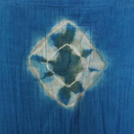 Cotton Quadruple gauze One piece(すくも藍×山栗)