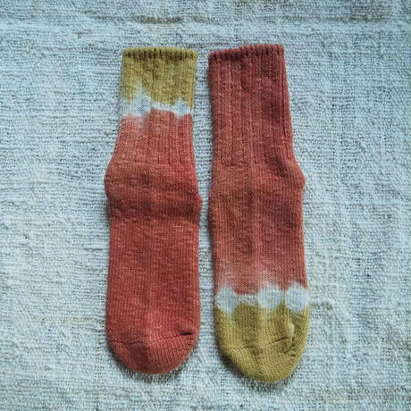 A HOPE HEMP Hemp Cotton Socks(小)【矢車×梅×インド茜】