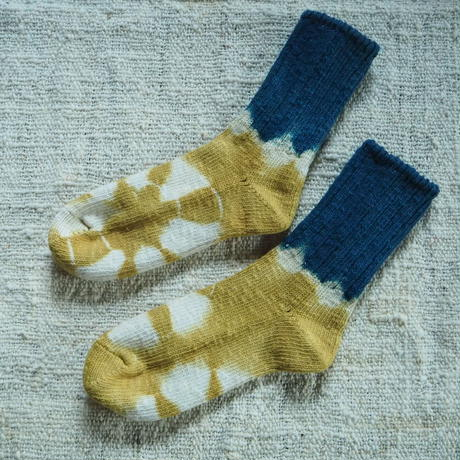 A HOPE HEMP Hemp Cotton Socks(小)【すくも藍×柘榴】
