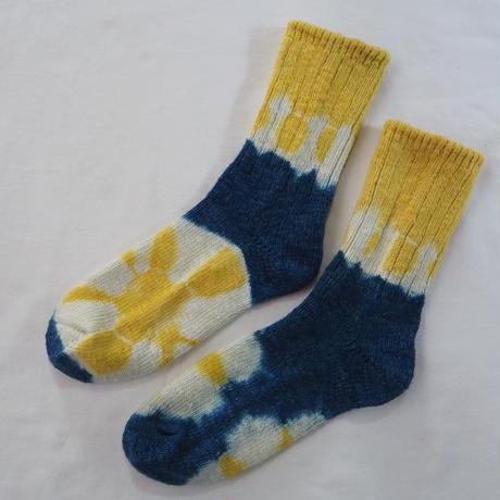 YOUstandard Hemp Cotton Socks(大) (ハルジオン×インド藍)