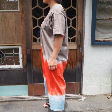 【U様ご注文分】GOOD ON Short-Sleeve Pocket Maxi One Piece(枇杷×インド茜×たで藍)